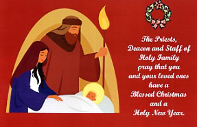 Holy Family Christmas Card