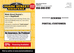 Main Street Dental EDDM Postcard Back