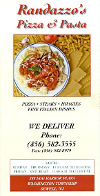 Randazzo's Pizza Catering Menu