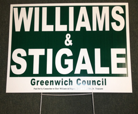 Political Yard Sign for 2013 campaign